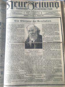 Neue Zeitung Eisner ermordet